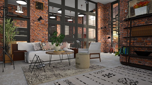 mieszkanie w stylu loftowym